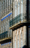 Facade. Ornate facades of Valença, Portugal Stock Photos