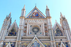 Facade of Orvieto Cathedral, Italy Royalty Free Stock Photos