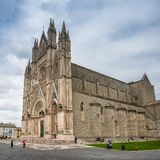 Facade of the Orvieto Cathedral, Italy royalty free stock image