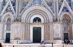 Facade of Orvieto Cathedral, Umbria, Italy royalty free stock image