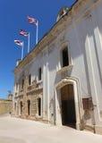 Facade of the palace at Castillo San Christobal. Royalty Free Stock Photo
