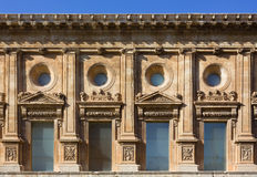 Facade of the Palace of Charles V at Alhambra in Granada Royalty Free Stock Image