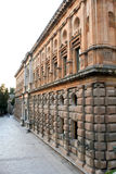 Facade of the palace of Charles V in Granada Stock Photography