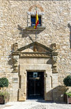 Facade of the Palace of the deputation of Caceres, Spain Stock Photos