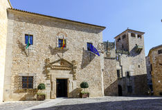 Facade of the Palace of the deputation of Caceres, Spain Stock Images