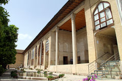 Facade of palace. In fortress Arg-e Karim Khan in Shiraz, Iran Royalty Free Stock Photos