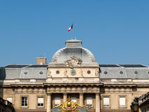 Facade of the Palace of Justice in Paris Stock Photos