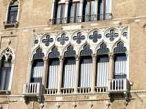 Facade of a palace in Venice Royalty Free Stock Photos