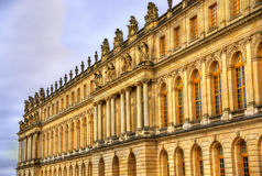 Facade of the Palace of Versailles Stock Images