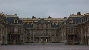 Facade of Palace of Versailles, in France royalty free stock photos