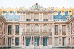 Facade of Palace of Versailles royalty free stock photography
