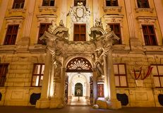 The facade of the Palace in Vienna Stock Photography