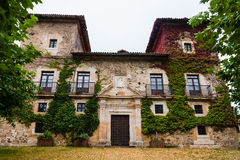 Facade of the Palacio of Martinporra located in Asturias Spain Royalty Free Stock Image