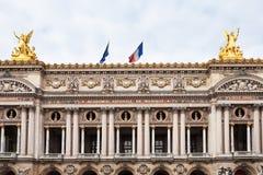 Facade of Opera Palais Garnier in Paris Stock Photo