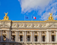 Facade of Paris opera house, France Royalty Free Stock Photography