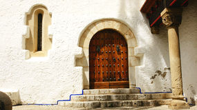 Facade of the Palau de Mar i Cel. In Sitges, Barcelona Royalty Free Stock Images