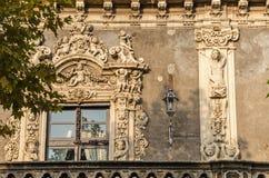 Facade of Palazzo Biscari Stock Image