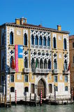 Facade of Palazzo Cavalli-Franchetti from the Grand Canal. Venice, Italy Stock Images