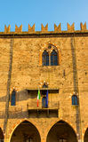 Facade of the Palazzo Ducale in Mantua. Italy Royalty Free Stock Images