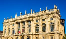 Facade of the Palazzo Madama in Turin Royalty Free Stock Photos