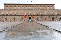 Facade of Palazzo Pitti in Florence in autumn Royalty Free Stock Image