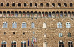 Facade of Palazzo Vecchio in Florence Stock Photography