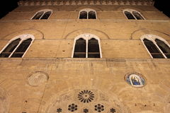 Facade of Palazzo Vecchio in Florence Stock Image