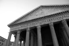 The Facade of the Pantheon Stock Images