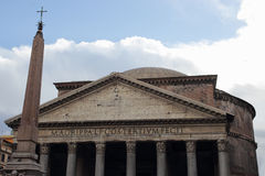 Facade of the Pantheon Royalty Free Stock Photos