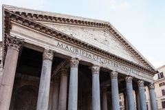 Facade of Pantheon church in Rome Royalty Free Stock Images