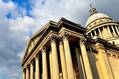Facade Of Pantheon Paris Under Clouds Royalty Free Stock Photo