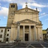 Main entrance, Portal, church, church of San Martino di Negrar, Verona, Italy stock image