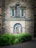 Facade of Parish Church of St Cuthbert in Princes Street Gardens, Edinburgh, Scotland. The Parish Church of St Cuthbert is a parish church of the Church of Royalty Free Stock Photo