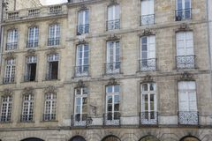Facade on Parlement Square, Bordeaux. France Royalty Free Stock Image