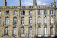 Facade on Parlement Square, Bordeaux Stock Image