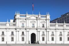 Facade of a parliament building, Palacio de la. Moneda, Santiago, Chile 2011-06-23 12:45:28 PM Stock Images