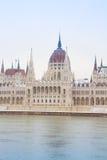 Facade of parliament, Hungary Stock Photos