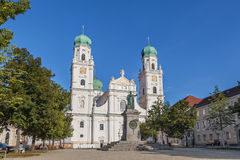Facade of Passau Cathedral, Germany Royalty Free Stock Photos