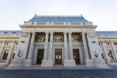 Facade of the Patriarchal palace in Bucharest, Romania Royalty Free Stock Photos