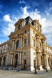 The facade of the Pavilion Mollien of the Louvre Museum in Paris Royalty Free Stock Image