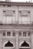 Facade on the Piazza Maggiore - Main Square, Bologna Royalty Free Stock Images
