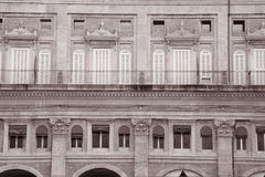Facade on the Piazza Maggiore - Main Square, Bologna Stock Photos