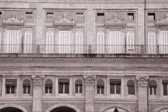 Facade on the Piazza Maggiore - Main Square, Bologna Stock Photos