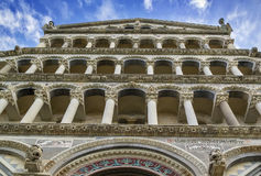 Facade of pisa cathedral, Italy Royalty Free Stock Photos