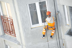 Facade Plasterer worker at work Royalty Free Stock Photography