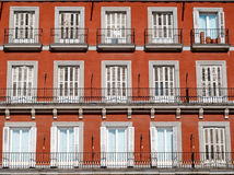 Facade of Plaza Mayor Stock Photos