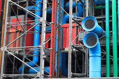 The facade of Pompidou center in Paris, France Royalty Free Stock Photos