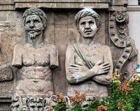 Facade of the Porta Nuova in Palermo, Sicily Stock Images