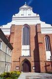Facade of the portal Gothic church Stock Image