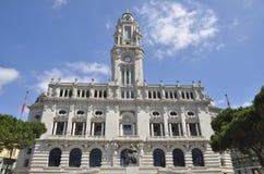 Facade Porto city hall Stock Photo